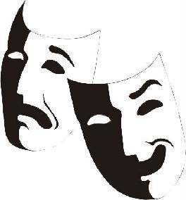 Máscaras da tragédia e da comédia.
