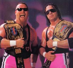 """Hitman"" Hart junto a Jim Neidhart: a temida ""Hart Foundation"""